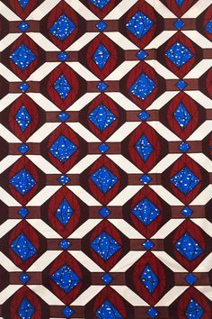 6 Yards Cotton African Fabric Real Wax Print by Africanpremier, $24.99