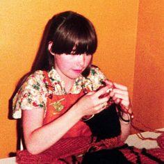 Björk weaving, 1979.