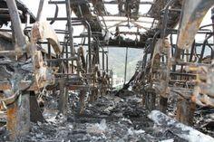 Atacaron con bombas molotov la base operativa del ...