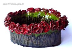 Ceramic bowl with roses