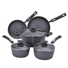 Hamilton Beach 8-pc. Aluminum Cookware Set - Gray, Grey