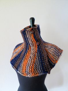 Brown Orange Gray Taupe Dark Blue Color by KnitsomeStudio on Etsy