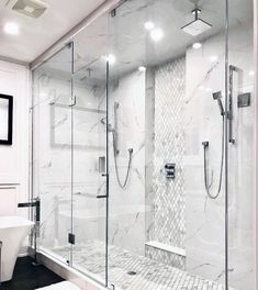 Bath and bask in a decant glow with the top 50 best shower lighting ideas. Explore unique illumination designs for your master bathroom. Master Bathroom Shower, Modern Master Bathroom, Master Bedroom, Bathroom Design Luxury, Bathroom Design Small, Shower Lighting, Bathroom Lighting, Lighting Design, Lighting Ideas