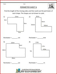 Area Sheet 6, a math area worksheet on the area of compound ...