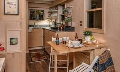 Dining Room and Kitchen - Riverside by New Frontier Tiny Homes