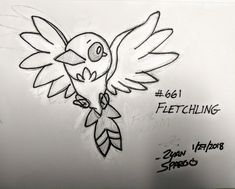 My kid cousin wanted me to draw his favorite bird Pokemon; think it came out pretty good.