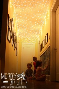 Forest Trees with Twinkle Lights | 11/ Twinkling Lights in your Hallway – I love how Kellie at Nest of ...