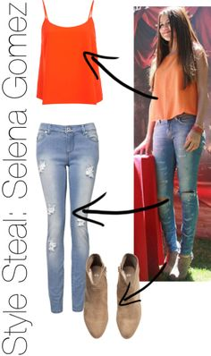 """Style Steal: Selena Gomez"" by kaylas2017 on Polyvore"