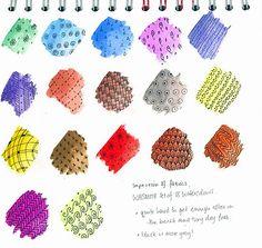 Zentangle & watercolor sampler