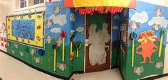 Dr. Seuss classroom door | Teacher