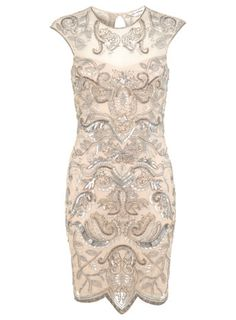 Nude Embellished Bodycon Dress - Summer Event Dressing - Apparel