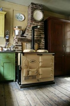I had a friend who had a stove much like this one. Her home was done so nice with all stuff like this.