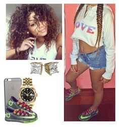 """✨"" by newtrillvibes ❤ liked on Polyvore featuring Native Union, Rolex and NIKE"