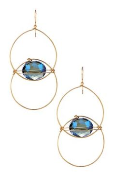 HauteLook | Day To Night Jewelry By Sarah Briggs: Hammered  Circle Crystal Earrings