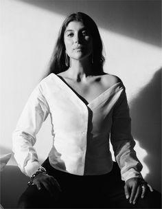 Maryam Nassir Zadeh models in Sophie Buhai's Spring 2017 lookbook.