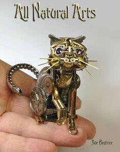 Artist Makes Sculptures Out of Old Watch Parts
