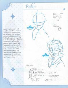 Disney - How to Draw Princesses Cartoon Sketches, Disney Sketches, Disney Drawings, Cartoon Art, Disney Style Drawing, Disney Art Style, Disney Fan Art, Beauty And The Beast Drawing, Disney Beauty And The Beast