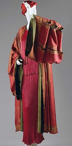 Mariano Fortuny - Caftan et Coiffe - Soie - Vers 1930