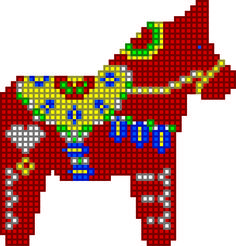 épinglé par ❃❀CM❁✿⊱Jess The Miscellaneous: Cross Stitch Dala Horse Pattern Cross Stitching, Cross Stitch Embroidery, Embroidery Patterns, Cross Stitch Designs, Cross Stitch Patterns, Crochet Horse, Horse Pattern, Cross Stitch Animals, Stuffed Animal Patterns