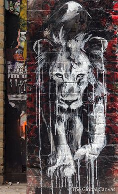 """Street Art by Faith47, London, UK- pinned by Photo Duke: """"is this Big city wild-life?"""""""