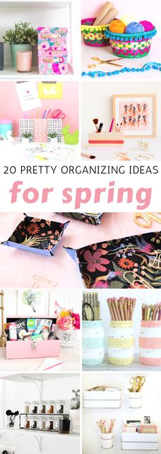 20 Pretty Organizing Ideas for Spring: Great DIY Projects to get set for spring! Wats to organize the bathroom, your desk, kitchen and more! Home Office Organization, Toy Organization, Organizing Your Home, Organizing Ideas, Home Crafts, Diy Home Decor, Diy Crafts, Organizer, Getting Organized