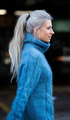 30.Long Gray Hair