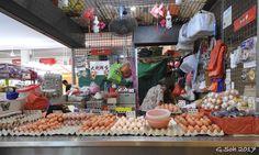 Selling eggs at Tiong Bahru market.