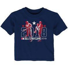 Majestic Toddler 2018 MLB All Star Game Batter & Pitcher T-Shirt – Navy