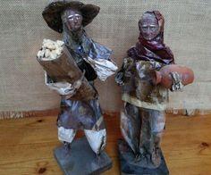 Vintage Folk Art Paper Mache Dolls in Collectibles   eBay
