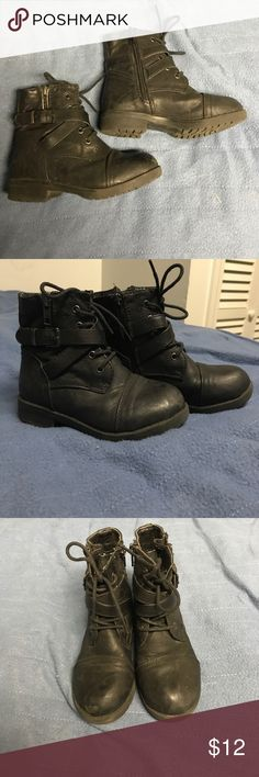 Girls black combat boots Girls black combat boots in great shape! Please make an offer! ID Required Shoes Boots