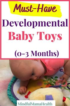 Best developmental toys for babies 0-3 months old.  These toys for 3 month old babies are perfect learning and developmental activities for 3 month olds.  The top age appropriate learning toys for your 3 month old baby.  #3montholdtoys #babytoys #newbornactivities 3 Month Old Activities, Baby Learning Activities, Newborn Activities, Baby Activity Toys, Child Development Activities, Baby Sensory Toys, Baby Development, Learning Toys, Sensory Play