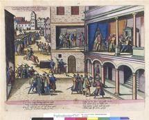 Plein cadre Assassinat du 3.duc Henri I. de Guise à Blois (1588) Hogenberg Frans (1535-1590) COTE CLICHÉ13-549364N° D'INVENTAIREQE-64-PET FOL Planche59FONDSEstampesDESCRIPTION:Pièces illustrant des événements survenus entre 1530 et 1608 en France (en particulier guerres de religion et arrivée au pouvoir d'Henri IV), Pays-Bas, Allemagne et Angleterre. Date : 1610 NOTE DE L'IMAGERC-A-41087PÉRIODE 17e siècle Europe (période) - période moderne TECHNIQUE/MATIÈRE estampe (technique)…