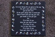 This is perfect for the Ultimate Friends fanatic! Itll even make a great gift! :)  Canvas size is 12 x 12.  Canvas is painted Black.  -Vinyl is made from Oracal 651.  *Please keep in mind that these are hand crafted. Items may have a slight difference than photo. Although we do our best to perfect every product as best as we can!  If you have any questions, please feel free to send us a message! :)