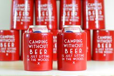 Put the Cool back in can coolers... remember the extra thick beer koozies from the 70s and 80s? Well, we decided to bring them back. The cheap, flimsy, foldable koozies of today just don't get the job done on a hot summer day. As a bonus they are buoyant... they float. This set of two beer koozies are virtually indestructible and will quickly become an indispensable part of your camping and beer drinking gear collection.