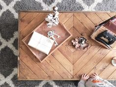 Coffee table made from bed slats – thisblessedhouse