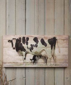 Mama Cow Calf Wred Canvas By Ohio