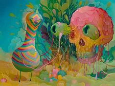 Charlie Immer Paints Otherworldly Images of Freakish Creatures #psychedelicart trendhunter.com