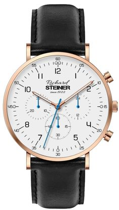 Richard Steiner Generation One Watch Brands, Gentleman, Leather, Accessories, Fashion, Designer Clocks, Pointers, Leather Cord, New Looks