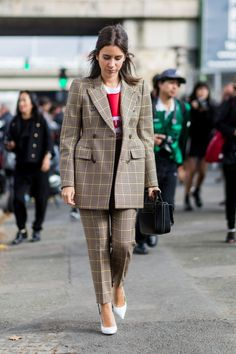 It started with Balenciaga, but the eternally elegant appeal of a tweed suit has filtered through to the mainstream, whether hound's-tooth, Prince of Wales check or tartan.