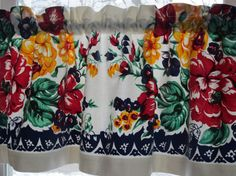 Vintage Floral Tablecloth Valance