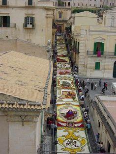 Infiorata (Flower Festival) in Noto, Sicily