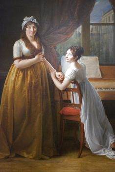 Comtesse de Morel- Vinde and her Daughter (The Music Lesson), 1799 (Detail) by the artist Baron Francois-Pascal-Simon Gerard