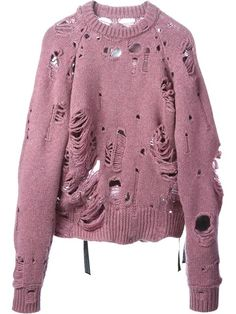 Shop Maison Martin Margiela distressed sweater in Raionul 4 from the world's best independent boutiques at farfetch.com. Over 1000 designers from 60 boutiques in one website.