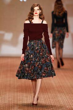Retro Fashion Fans, You're Going to Love Lena Hoschek Couture Fashion, Runway Fashion, Fashion Outfits, Womens Fashion, Popsugar, 1950s Fashion, Vintage Fashion, 1950s Outfits, Berlin Fashion