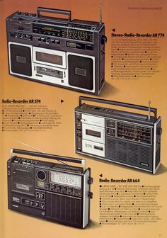 Philips Stereo Radio Recorder Blast from the past. Portable radio cassette player - I've just bought the one on the bottom. Hi Fi System, Audio System, Radios, Nostalgia, Cassette Recorder, Transistor Radio, Old Computers, Hifi Audio, Philips