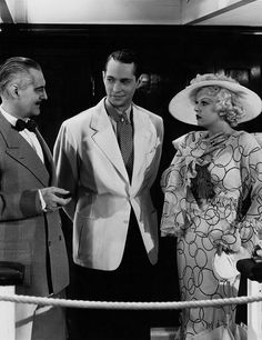 Lionel Barrymore, Franchot Tone & Jean Harlow - The Girl from Missouri