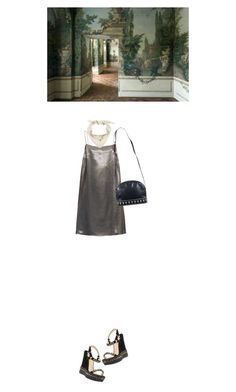 """""""Skt Hans Soiree"""" by selmaranloev ❤ liked on Polyvore featuring Yves Saint Laurent, Hermès and Christian Louboutin"""