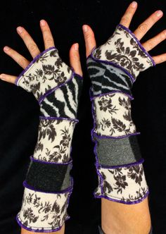 Arm Warmers - made from upcycled sweaters, Katwise, Etsy