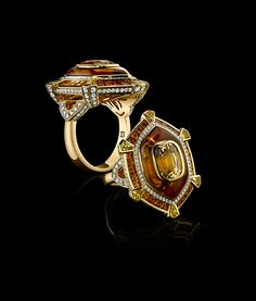 Robert Procop Cushion Yellow Sapphire Ring | Cayen Collection
