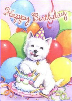 Westie Birthday Card